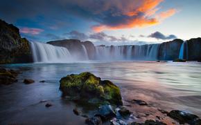 природа, Исландия, водопад