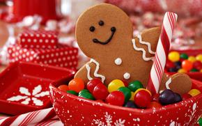 печенье, новогоднее, печенька, праздник, сладости, конфеты, Рождество, Новый год