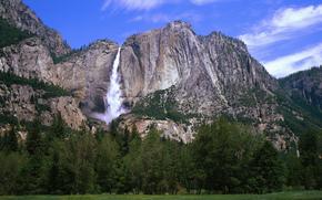 Montagne, foresta, cascata, natura