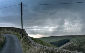strada, campo, paesaggio