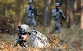 soldato, arma, sfondo