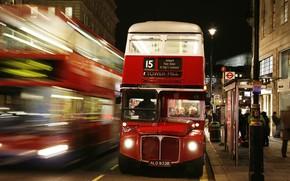 Londres, Inglaterra, autobs, por la noche, iluminacin, personas, Mancha, Pasajeros, conductor, calle, carretera, linterna, Ciudad