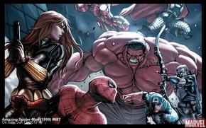 Captain America, Hawkeye, Red Hulk, man of iron, Top, The Avengers, spiderman, Black Widow