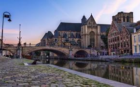 Brussels, Belgium, bridge, channel, structure, city.
