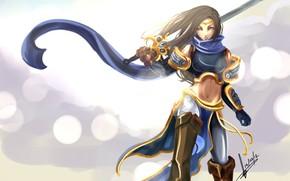 ragazza, spada, armatura, fanart