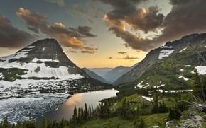 Wald, Tal, See, Gebirge