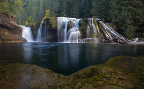 cascata, cascata, fiume, foresta