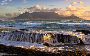 cape town, south africa, Capetown, South Africa, ocean, Mountains, landscape