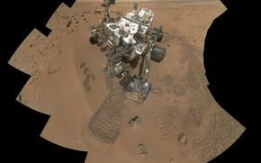 curiosity, rover at rocknest, on mars