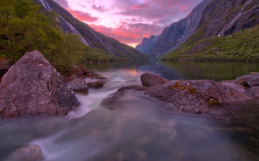 norway, Норвегия, озеро, горы,
