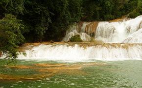 cascadas de agua azul mexica, водапад, река