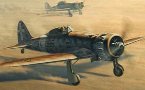 lightning, Italian, fighter, Aeronautica, Mackey, picture, takeoff