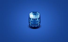 man of iron, blue, white