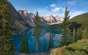 lac de moraine, valle des dix pics, Parc national de Banff, Canada, Moraine Lake, valle