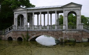 Marble Bridge, Catherine Park, Big Pond, water, pond, Tina, St. Petersburg, architecture, old man