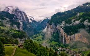 valle di Lauterbrunnen, Svizzera, Montagne