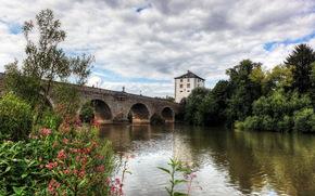 Deutschland, Limburg an der Lahn, Fluss, Brcke