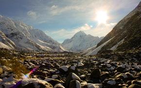 fiordland, Новая Зеландия, горы, камни