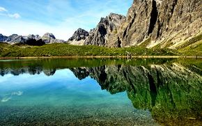Austria, Tirol, Montaas, lago