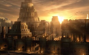 Babilnia, atracar, torre