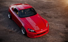 хонда, красная, Honda