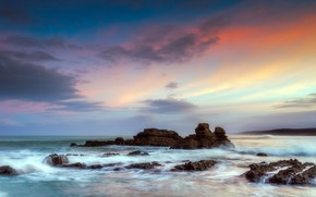sea, rocks, landscape