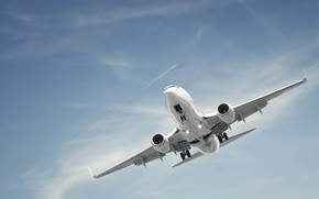sky, trace, plane