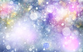 Snowflakes, stars, radiance