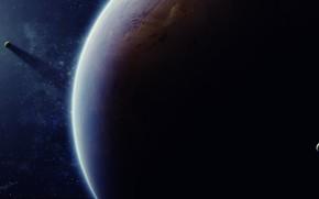 Art, Espace, plante, Satellites, Star, lumire, ombre