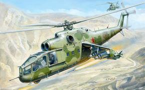 советский, вертолет, авиация, ракета, ВВС, рисунок