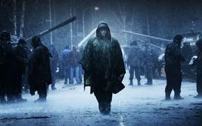 Babylon AD, Vin Diesel, lluvia, personas, Ciudad, Tanques