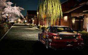 Улица, брусчатка, Honda, автомобили, машины, авто