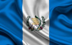 guatemala, satin, flag, Guatemala, Atlas, flag