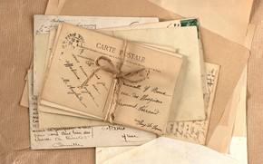 винтаж, строки, верёвка, марки, печати, стопка