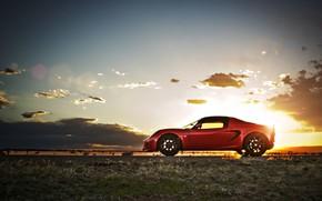 loto, Alice, rosso, tramonto, sole, hotspot, supercar