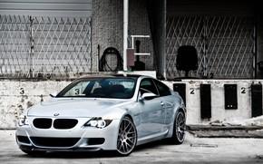 бмв, серебристый, вид, спереди, дневной свет, углепластиковая крыша, BMW