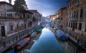 Венеция, город, канал