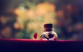 Mood, bank, heart, key, Key, cork, background, wallpaper