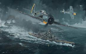 Самолет, корабль, нападение, вторая мировая война