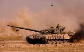 tank, weapon, polygon, teaching, armor, army, Kazakhstan