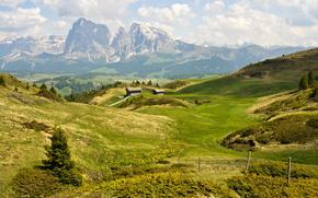 лето, горы, доломитовые альпы