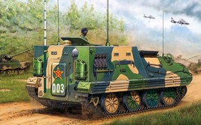 Command post vehicle, Chinese, picture, helicopters, Tanks
