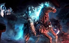 Arte, jinete, Arma, caballo, muerte, Undead
