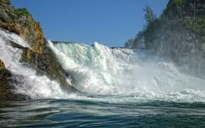 Cascate del Reno, Svizzera, Cascate del Reno, Svizzera, ruscello, Rocks