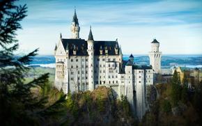 город, Германия, юго-западная Бавария, Замок Нойшванштайн, leica camera ag m9, j