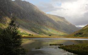 природа, Шотландия, Великобритания, нагорье, горы, дерево, река, river coe, радуга, paul beentjes photography