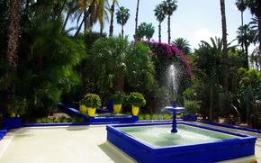 Marocco, marrakech, Jardin Majorelle, fontana