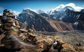дух тибета, тибет, небо, горы, ветер