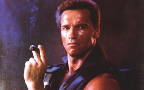 Commandos, Arnold Schwarzenegger, muzhik, actor, cigar