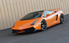 Lamborghini, Gallardo, orange, wing, black roof, Lamborghini